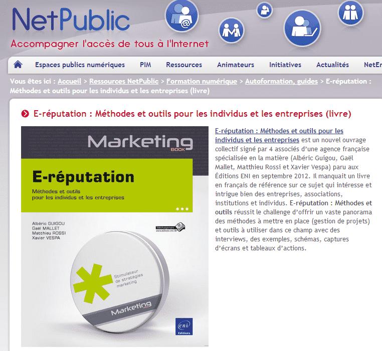 netpublic- livre E-réputation